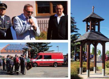 Poběžovice u Holic mají novou zvoničku i hasičské auto 👍🚒