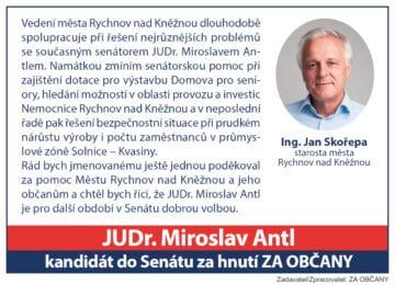 """Pracovní posudek"" – senátora z regionu"